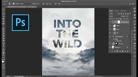 How to Create A Clipping Mask with Text in Photoshop - YouTube