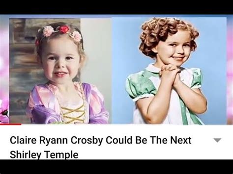 Claire Ryann Crosby Could Be The Next Shirley Temple - YouTube