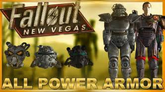Fallout New Vegas: ALL POWER ARMOR SETS AND ALL VARIATIONS
