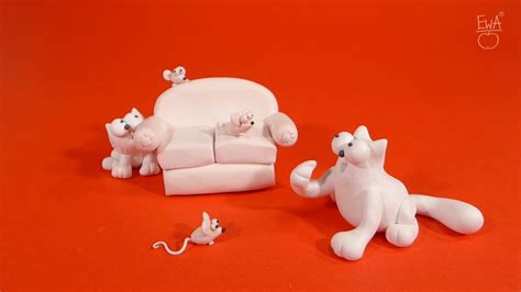 SIMON'S CAT - polymer clay tutorial by LET'S CLAY