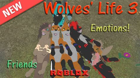 Roblox - Wolves' Life 3 - Emotions & Friends #4 - HD