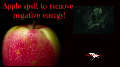 Very simple apple spell to remove negative energies - YouTube
